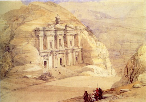 ad deir (the monastery) in 1839, by david roberts.jpg