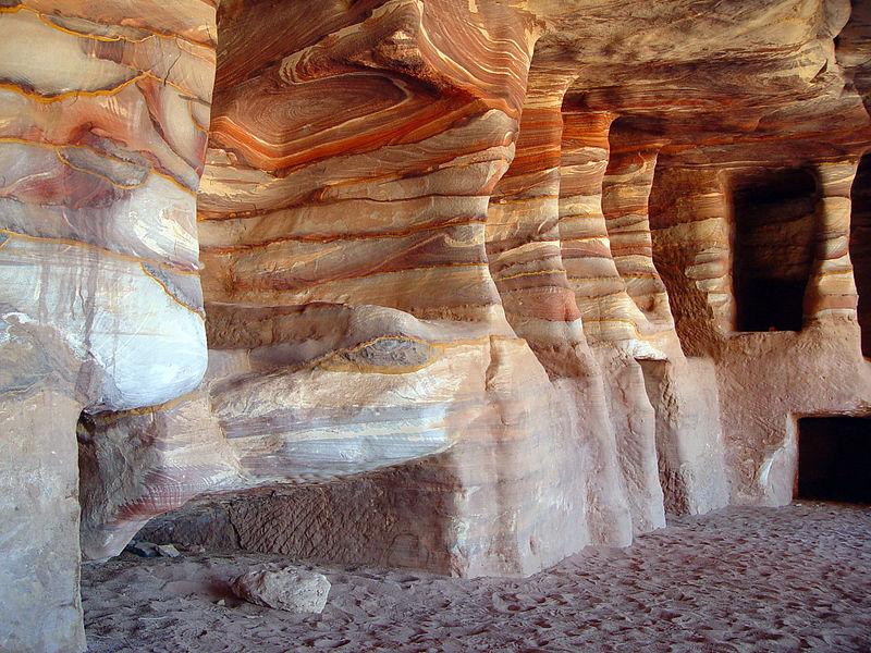 sandstonerock-cut tombs ( kokhim) in petra.jpg