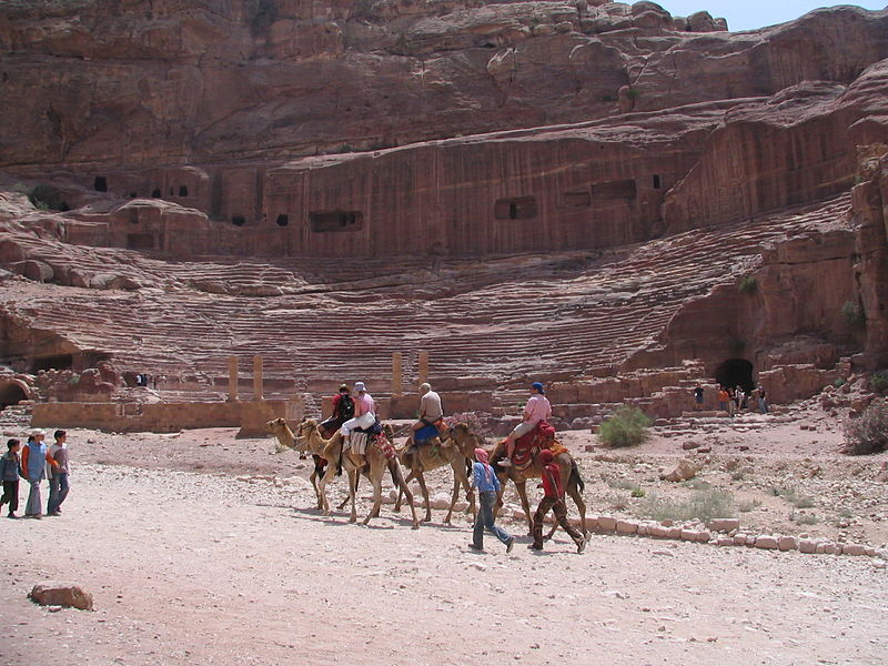 the amphitheatre of petra. photo was taken by bpavacic in petra, jordan on 26 may 2006..jpg