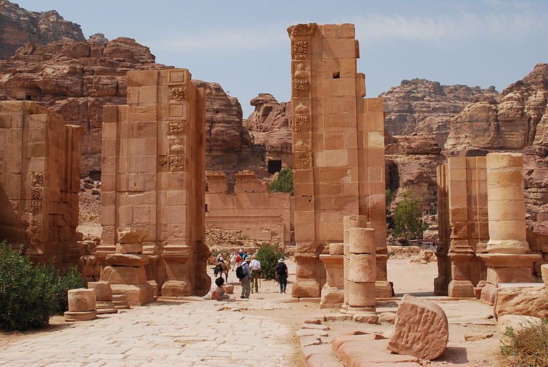 the hadrien gate and the cardomaximum in petra.jpg